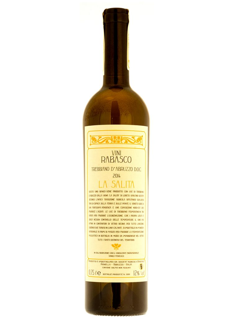 vino bianco abruzzese trebbiano La Salita Rabasco