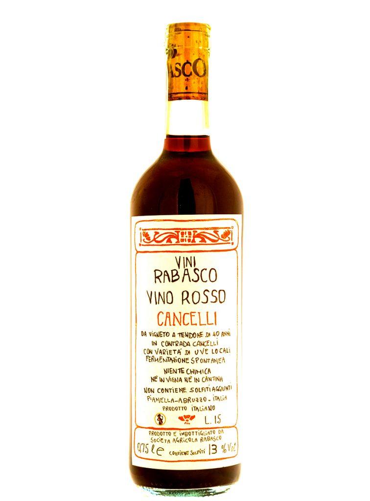 vino rosso abruzzese Montepulciano Rabasco Rosso Cancelli
